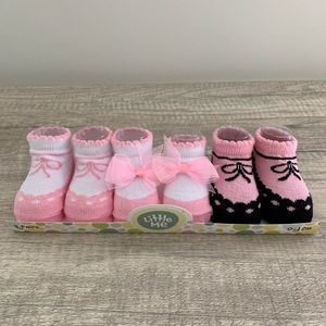 NEW! Little Me Baby Girl Sock Set, Pink, Size 0-12